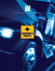 Corporate Profile - International Road Dynamics Inc.