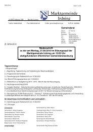GR-6-2010 Protokoll der Sitzung vom 27.09.2010 - Marktgemeinde ...