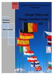 Energy Policy and Energy Taxation in the EU - IREF