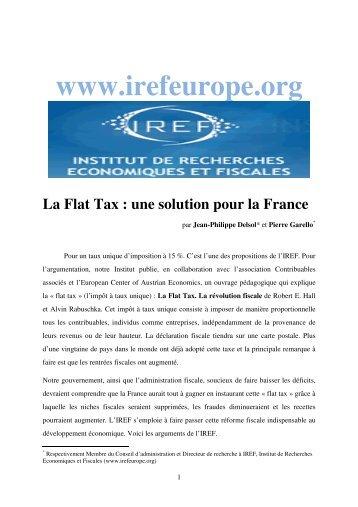La flat tax - IREF
