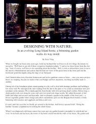 DESIGNING WITH NATURE; - Irene Virag