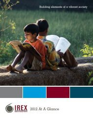 2012 Annual Report (PDF) - IREX