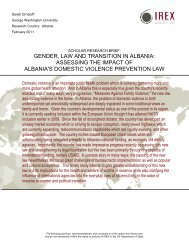 Assessing the Impact of Albania's Domestic Violence ... - IREX