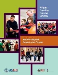 Youth Development Competencies Program Program ... - IREX