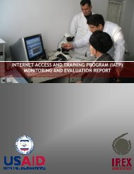 IATP Monitoring and Evaluation Report - IREX