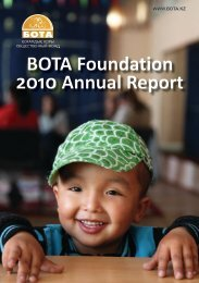 BOTA Foundation 2010 Annual Report - IREX