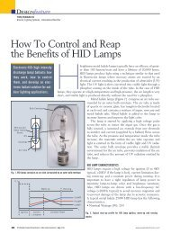 How To Control and Reap the Benefits of HID Lamps - International ...