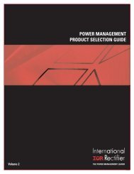 power management product selection guide - International Rectifier