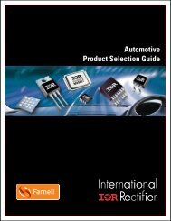 Automotive Product Selection Guide