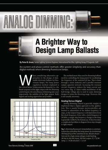 Comparison between current regulated dimming and phase ...