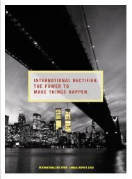 2000 Annual Report - International Rectifier
