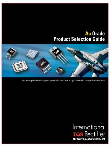Au Grade Product Selection Guide