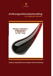 Antikoagulationsbehandling - Institut for Rationel Farmakoterapi