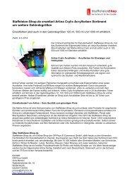 Staffeleien-Shop.de erweitert Artina Crylic Acrylfarben Sortiment