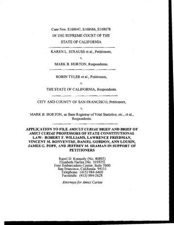 APPLICATION TO FILE AMICUS CURIAE BRIEF AND BRIEF OF ...
