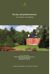 10-års jubilæumsmøde Få styr på polyfarmacien - Institut for ...