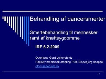 Behandling af cancersmerter