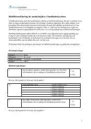 Habilitetserklæring for medarbejdere i Sundhedsstyrelsen