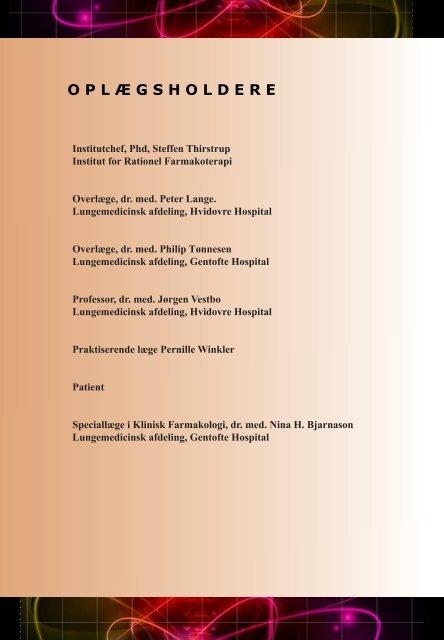 Program stormøde, KOL 2011 - Institut for Rationel Farmakoterapi