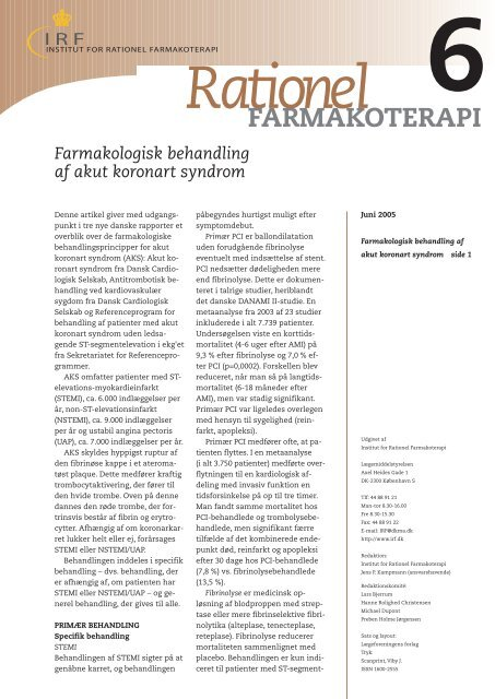 Hele bladet (pdf format) - Institut for Rationel Farmakoterapi