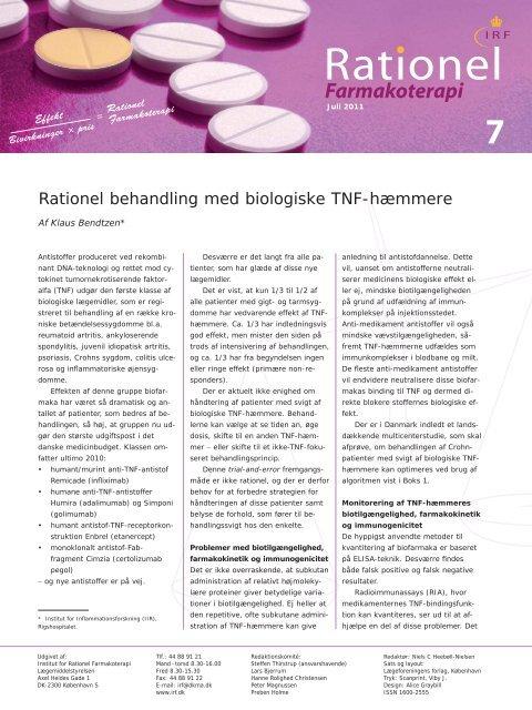 (juli 2011).pdf - Institut for Rationel Farmakoterapi
