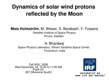 Dynamics of solar wind protons reflected by the Moon