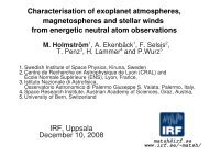 Characterisation of exoplanet atmospheres, magnetospheres and ...
