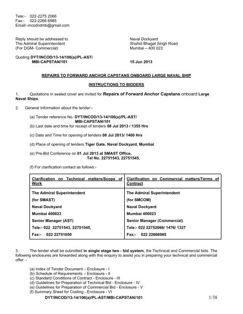 DYT/INCOD/13-14/106(a)/PL-AST/MBI-CAPSTAN/101 Tele