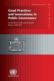 Good Practices and Innovations in Public Governance 2003-2011