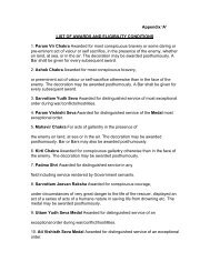 Appendix 'A' LIST OF AWARDS AND ELIGIBILITY CONDITIONS 1 ...