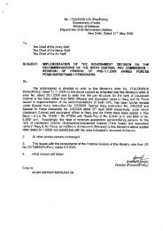 Revision of Pension of Pre 1.1.2006 Armed Forces Pensioners