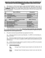 Minutes of Pre-bid Conference - Irfc-nausena.nic.in