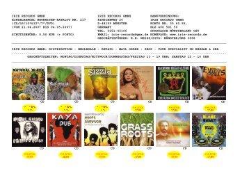 Neue Ware Mail-Order Katalog Einzelhandel 05-07 #1 - Irie Records ...
