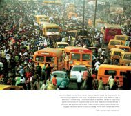 Buses drive through crowded Oshodi market. Lagos is ... - IRIN