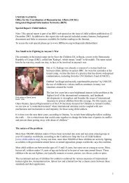 UNITED NATIONS Office for the Coordination of Humanitarian ... - IRIN