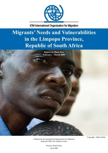 Migrants' Needs and Vulnerabilities in the ... - IOM South Africa