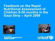Feedback on the Rapid Nutritional Assessment of Children 6-59 - IRIN
