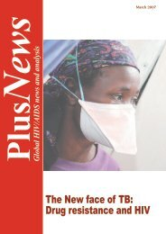 The New face of TB: Drug resistance and HIV - IRIN