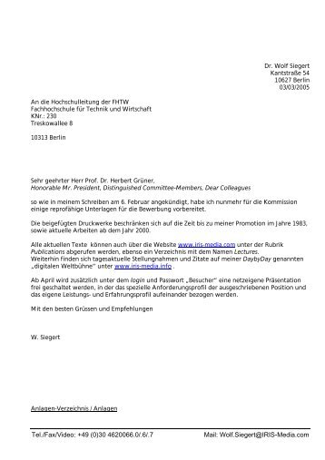 Tel./Fax/Video: +49 (0)30 4620066.0/.6/.7 Mail: Wolf.Siegert@IRIS ...