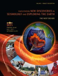 Facilitating new Discoveries in seismology anD exploring the ... - IRIS