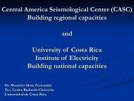 Central America Seismological Center - IRIS