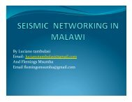Seismic Networkking In Malawi - IRIS