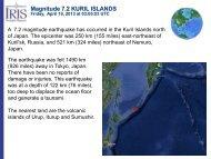 Magnitude 7.2 KURIL ISLANDS - IRIS