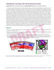 Lithospheric Layering in the North American Craton - IRIS