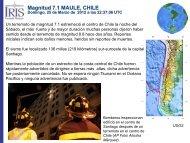 Magnitud 7.1 MAULE, CHILE - IRIS