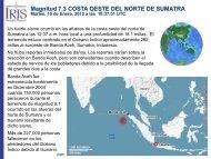 Magnitud 7.3 COSTA OESTE DEL NORTE DE SUMATRA - IRIS
