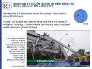 Magnitude 6.3 SOUTH ISLAND OF NEW ZEALAND - IRIS