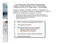 Low-Frequency Rotational Seismology: Observations with ... - IRIS
