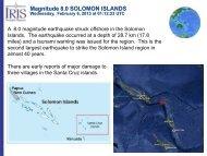 Magnitude 8.0 SOLOMON ISLANDS - IRIS