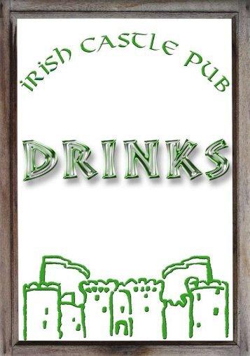 Getränkekarte allgemein - the irish castle!